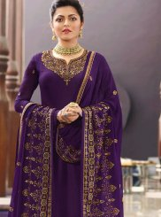 Purple Mehndi Churidar Designer Suit