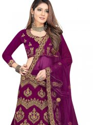 Purple Mehndi Trendy Lehenga Choli