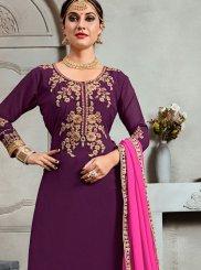 Purple Palazzo Salwar Suit