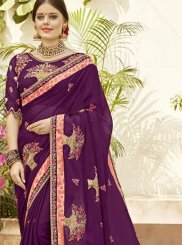 Purple Party Classic Designer Saree
