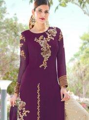 Purple Reception Palazzo Salwar Suit