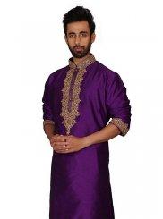 Purple Sangeet Kurta Pyjama
