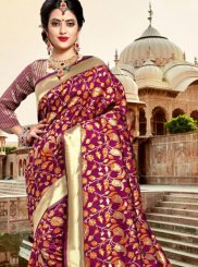 Purple Silk Traditional Saree