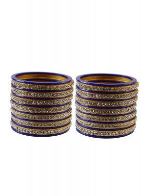 Purple Stone Work Party Bangles