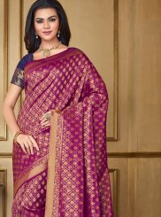 Purple Weaving Designer Saree