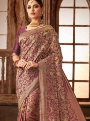 Purple Weaving Traditional Designer Saree