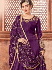 Purple Wedding Floor Length Anarkali Suit