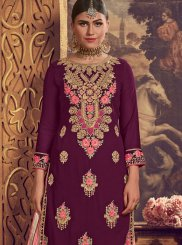 Purple Wedding Palazzo Salwar Suit