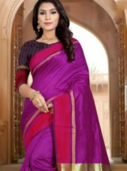 Purple Woven Art Silk Designer Traditional Saree