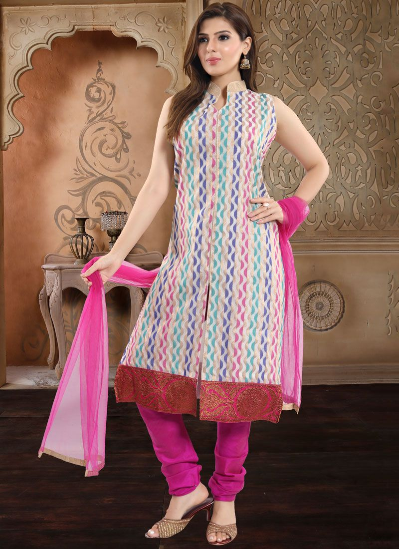 Rani Banarasi Silk Churidar Salwar Suit