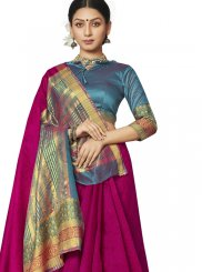 Rani Border Art Silk Designer Saree