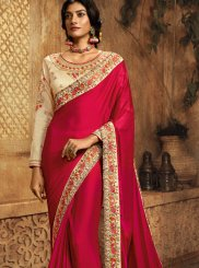 Rani Ceremonial Crepe Silk Traditional Designer Saree