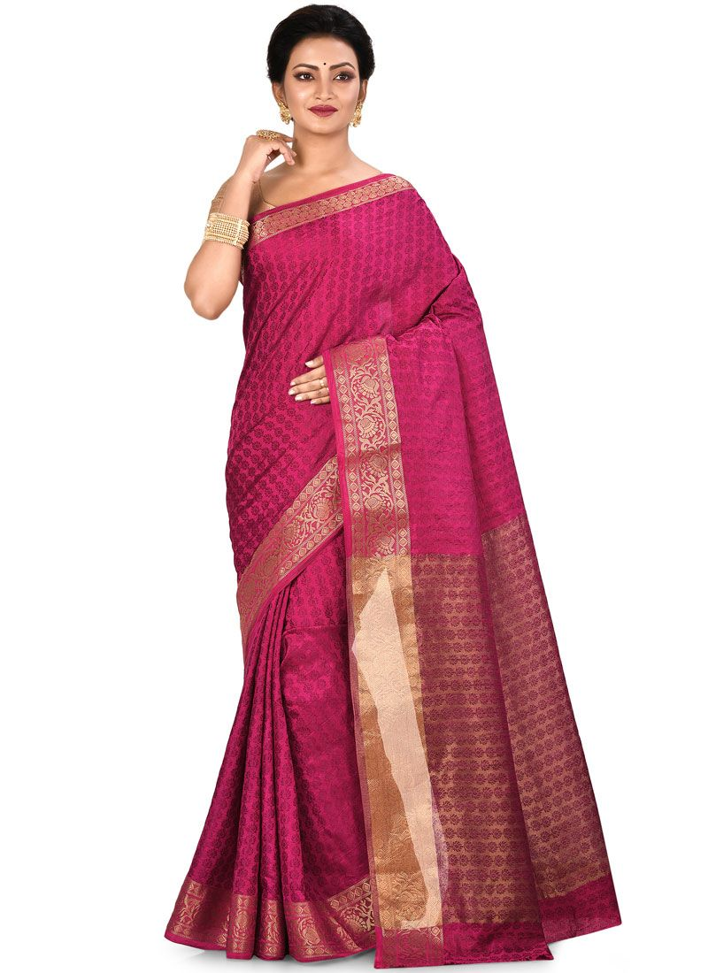 Rani Weaving Art Silk Traditional Saree