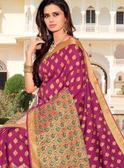 Rani Weaving Satin Silk Designer Traditional Saree