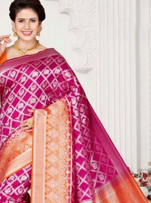 Rani Weaving Traditional Designer Saree