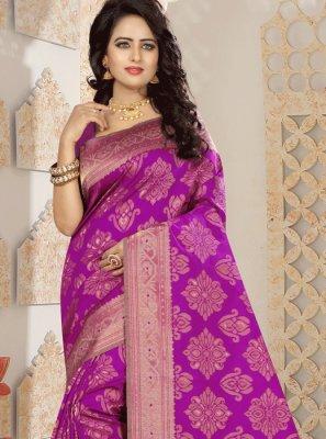 Rani Weaving Work Kanchipuram silk Traditional Designer Saree