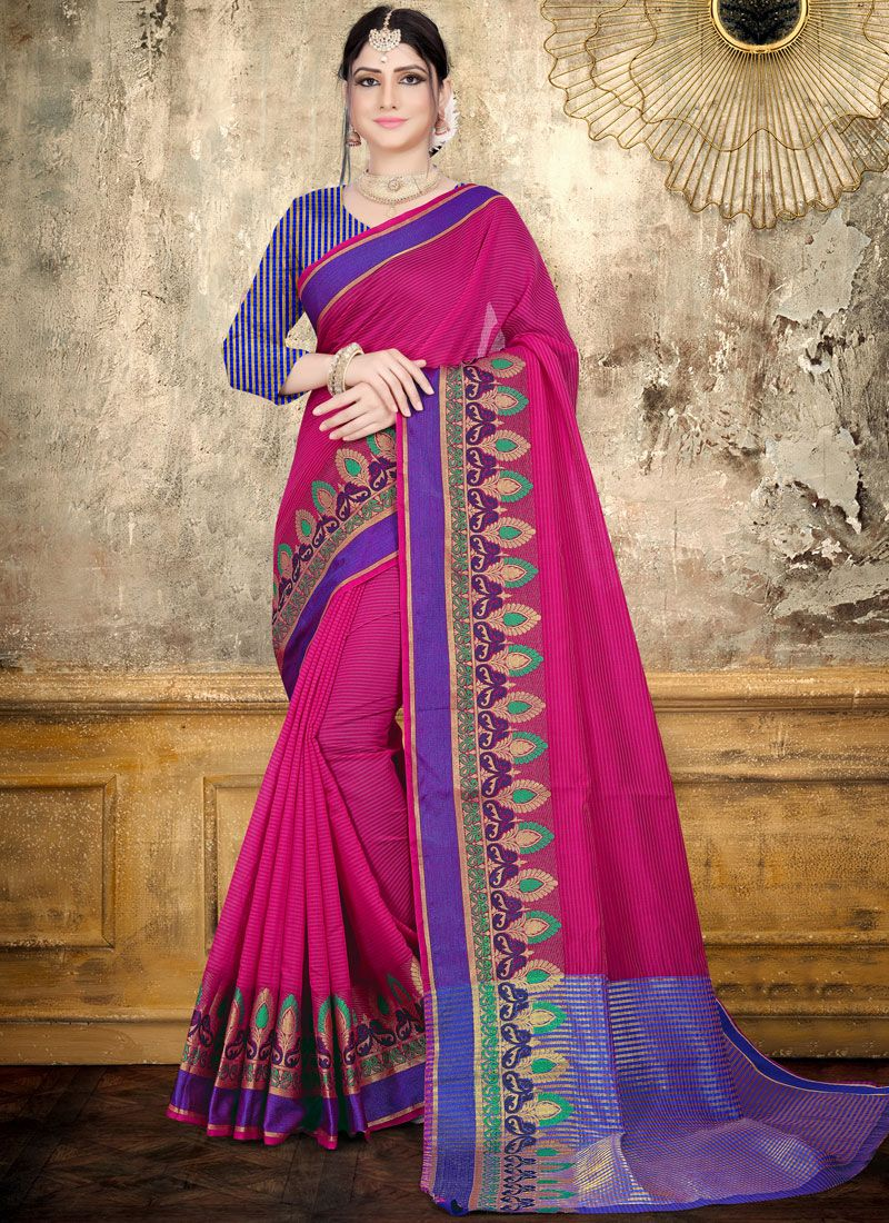 Rani Woven Cotton Saree