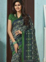 Raw Silk Multi Colour Casual Saree