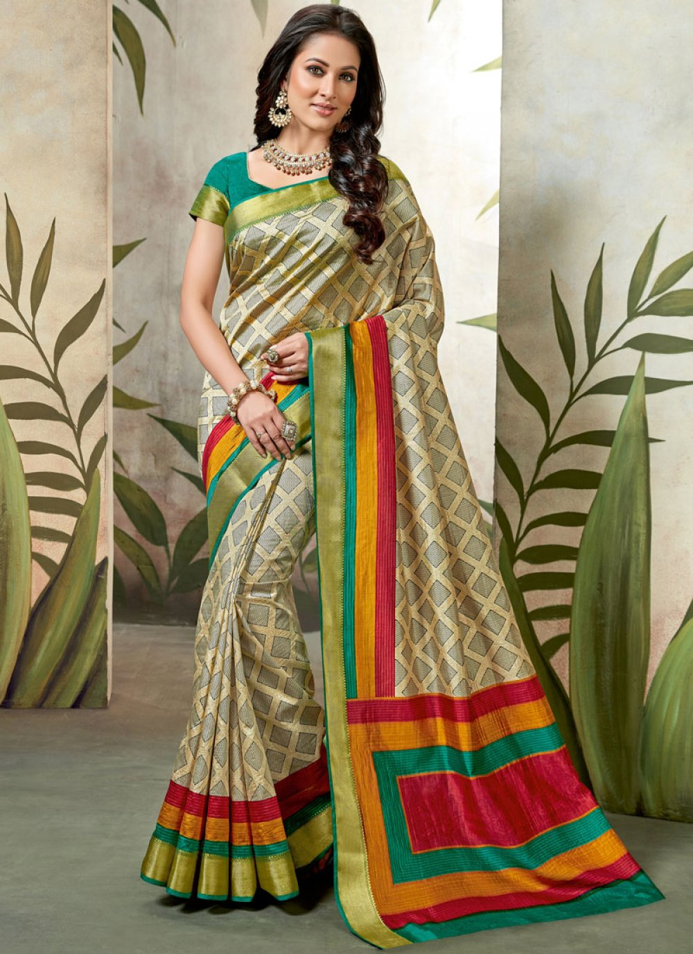 Raw Silk Party Traditional Saree