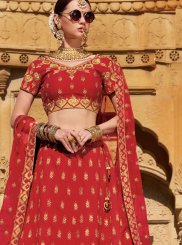 Raw Silk Trendy Designer Lehenga Choli