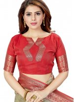 Raw Silk Weaving Silk Saree