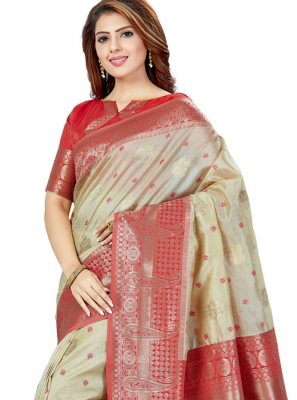 Raw Silk Weaving Silk Saree