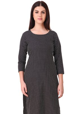Rayon Casual Kurti in Black