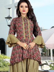 Rayon Casual Kurti in Brown