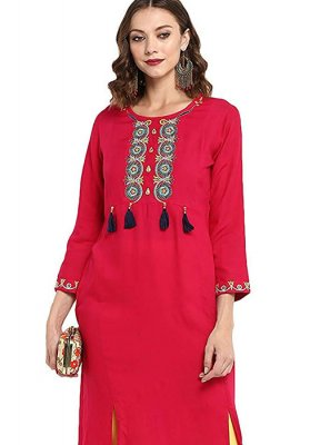 Rayon Ceremonial Party Wear Kurti