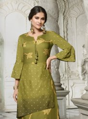 Rayon Digital Print Party Wear Kurti