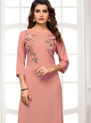 Rayon Embroidered Casual Kurti