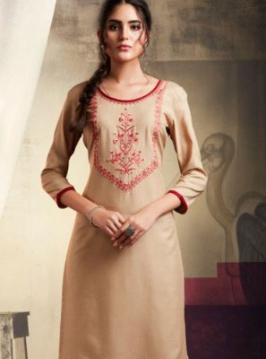 Rayon Embroidered Casual Kurti