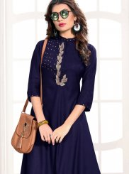 Rayon Embroidered Party Wear Kurti