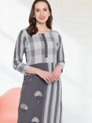Rayon Grey Party Wear Kurti