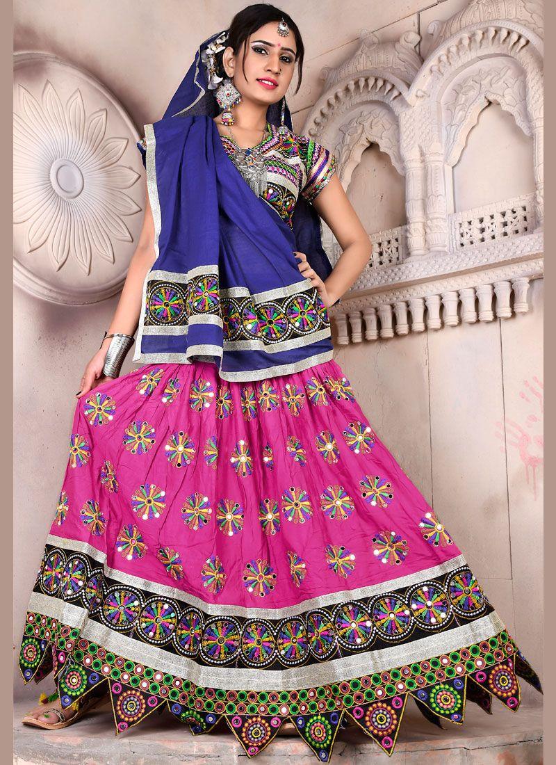 Rayon Lehenga Choli in Multi Colour