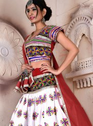 Rayon Multi Colour Embroidered Lehenga Choli
