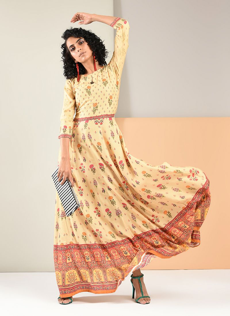 Rayon Party Designer Gown