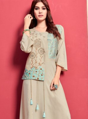 Rayon Party Wear Kurti