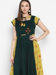 Rayon Print Party Wear Kurti