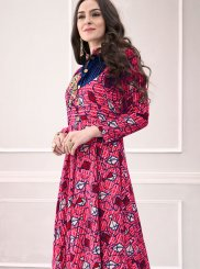 Rayon Printed Trendy Gown