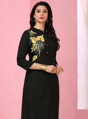 Rayon Thread Work Party Wear Kurti