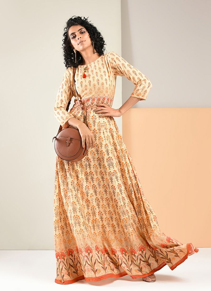 Rayon Trendy Gown