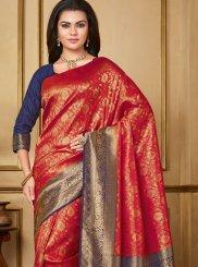 Red Art Silk Party Designer Saree