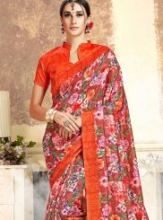 Red Art Silk Trendy Saree