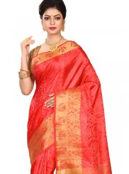 Red Art Silk Weaving Designer Traditional Saree