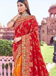 Red Banarasi Silk Classic Designer Saree