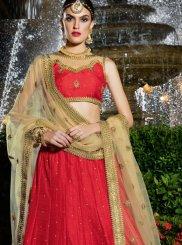 Red Banglori Silk Designer Lehenga Choli