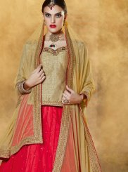 Red Banglori Silk Trendy Lehenga Choli