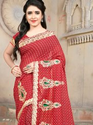 Red Casual Casual Saree