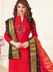 Red Casual Churidar Suit
